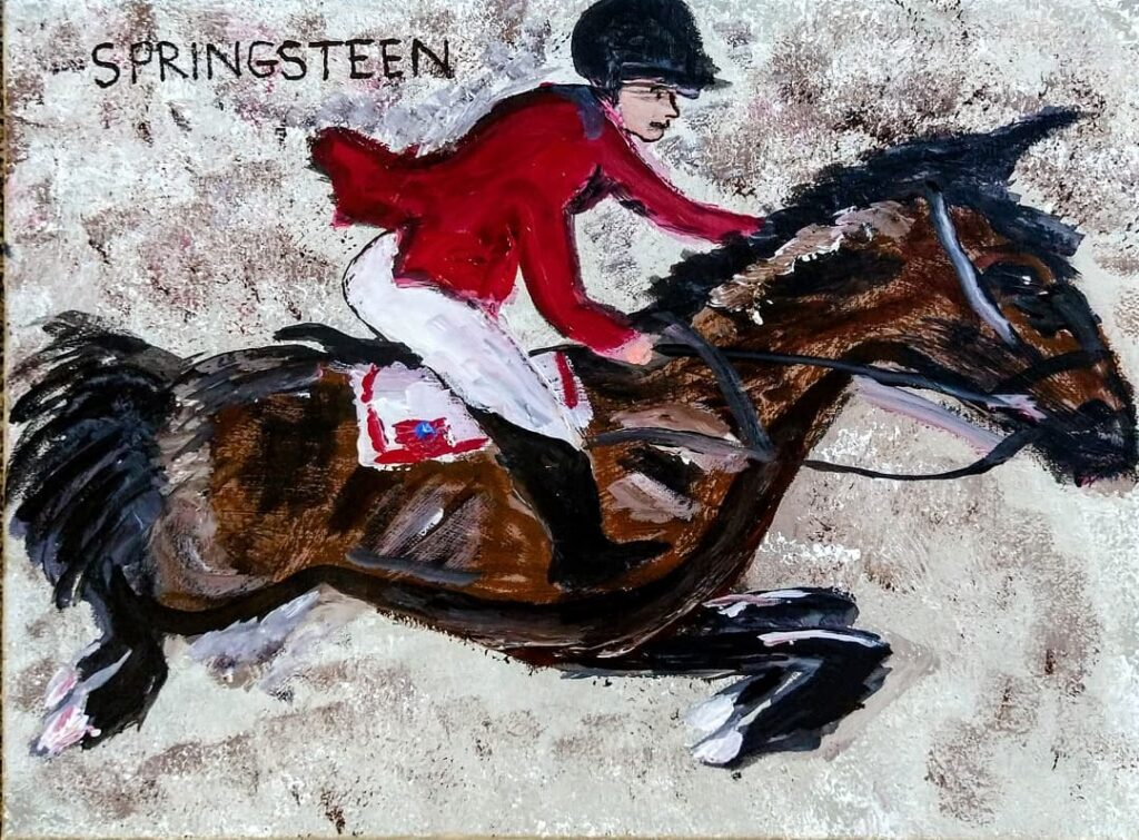 Jessica Springsteen brought home a Silver Medal from Tokyo. Pretty darn nice horse and interesting background texture